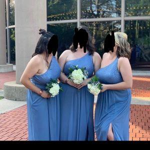 Slate Blue Bridesmaid/Prom Formal Dress